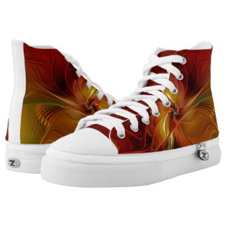 Warmth, Abstract Fractal Art Printed Shoes