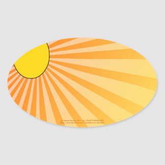 warmth of the sun oval sticker
