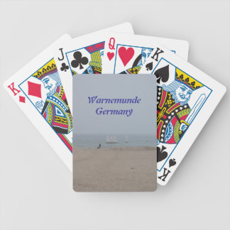 Warnemunde Germany Bicycle Playing Cards