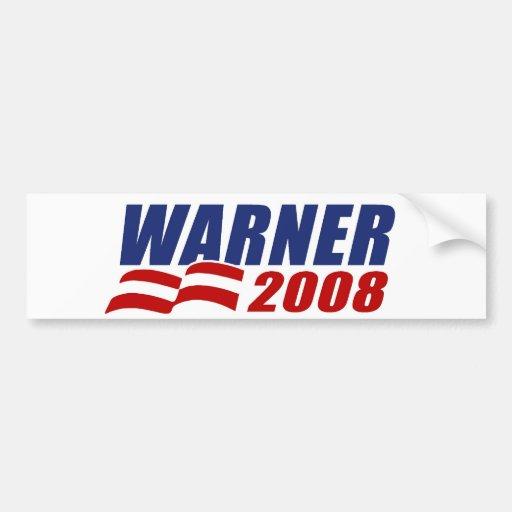 Warner 2008 pegatina de parachoque