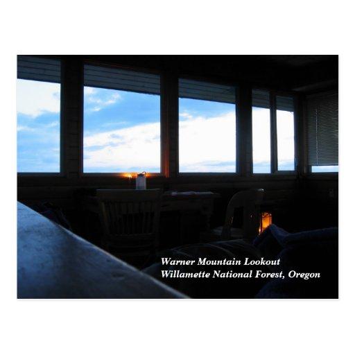 Warner Mountain Fire Lookout Postcard