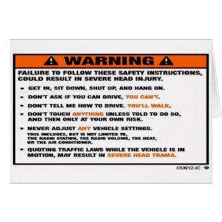 WARNING2 CARD