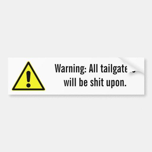 warning-05 car bumper sticker