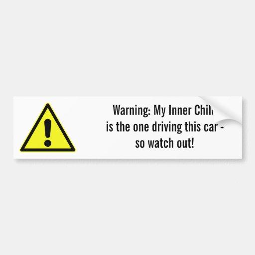 warning-07 car bumper sticker