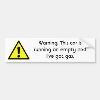 warning-09 bumper sticker