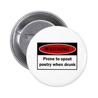 Warning 2 Inch Round Button