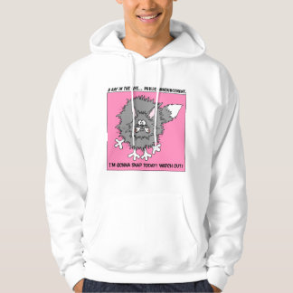 Warning: About to Snap Stressed Out Cat Hoodie