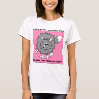 Warning: About to Snap Stressed Out Cat T-Shirt