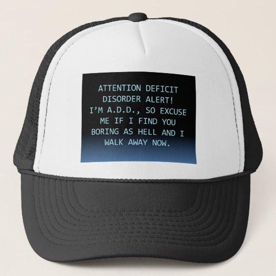 WARNING-ADD ALERT TRUCKER HAT