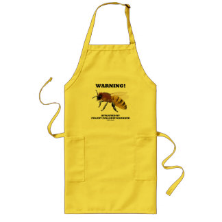 Warning! Afflicted By Colony Collapse Disorder Long Apron