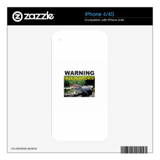 warning alligator tag decals for the iPhone 4