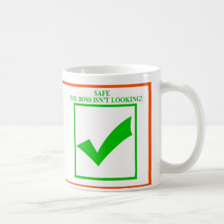 Warning And Safe The Boss Is Looking Isn t Coffee Mugs