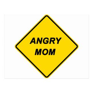"""Warning - Angry Mom"" design Postcards"