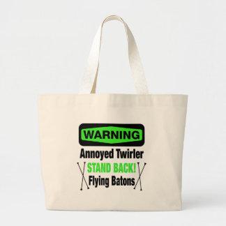 Warning Annoyed Twirler Green Bags