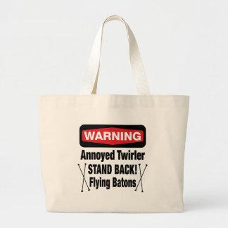 Warning Annoyed Twirler Red Tote Bag