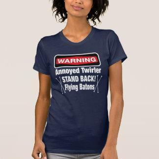 Warning Annoyed Twirler Red T-Shirt
