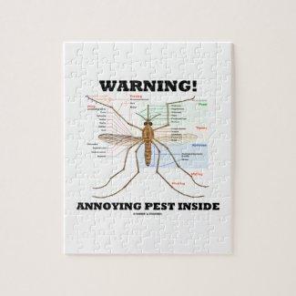 Warning! Annoying Pest Inside (Mosquito Anatomy) Puzzle
