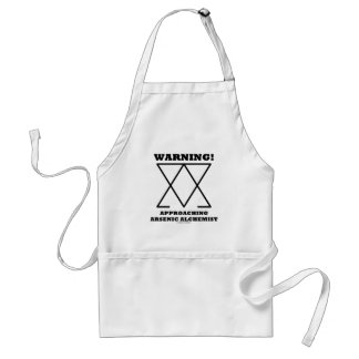 Warning! Approaching Arsenic Alchemist (Sign) Adult Apron