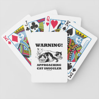 Warning! Approaching Cat Snuggler Three Cats Bicycle Playing Cards