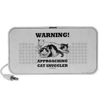 Warning! Approaching Cat Snuggler Three Cats Notebook Speakers