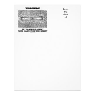 Warning! Approaching Object Magnetic Personality Letterhead