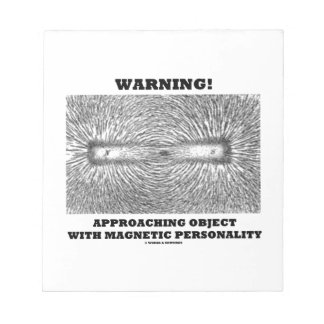 Warning! Approaching Object Magnetic Personality Memo Pad