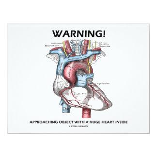 Warning! Approaching Object With Huge Heart Inside Card