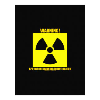Warning! Approaching Radioactive Object Signage Letterhead