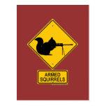 Warning Armed Squirrels Postcards