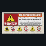 """Warning! ASL only. Voices off poster. Poster<br><div class=""""desc"""">remind your students about your voices off in a fun way</div>"""