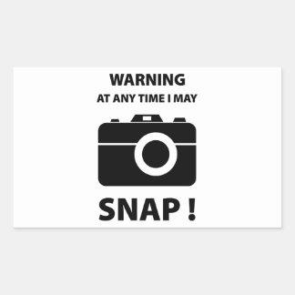 Warning At Any Time I May Snap Stickers