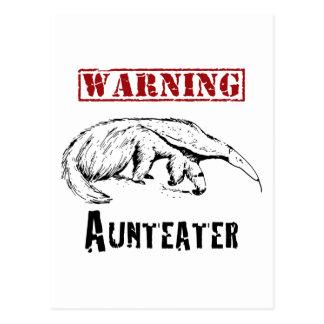 *Warning* Aunteater - Anteater Postcard