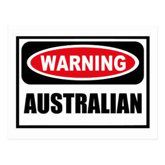 Warning AUSTRALIAN Postcard