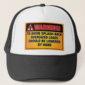 WARNING - Avoid Splash-Back Bathroom Hat