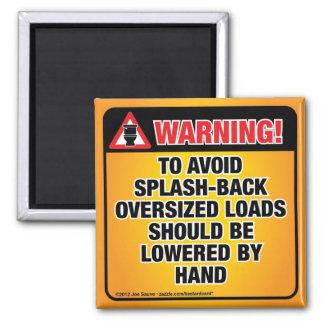 WARNING - Avoid Splash-Back Bathroom 2 Inch Square Magnet