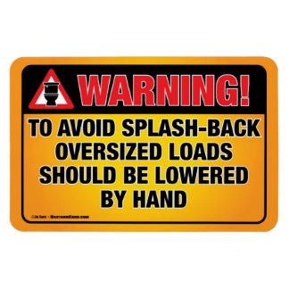 WARNING - Avoid Splash-Back Bathroom Magnet Rectangle Magnet