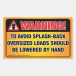 WARNING - Avoid Splash-Back Bathroom Rectangle Stickers