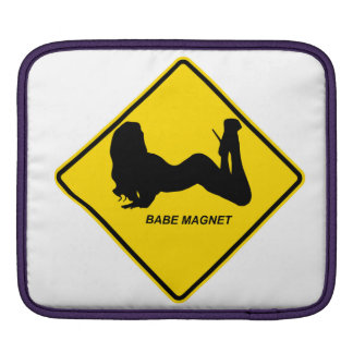 """Warning """"Babe Magnet"""" design Apple product cases iPad Sleeves"""