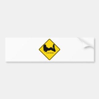 """Warning - Babe magnet"" design Bumper Sticker"