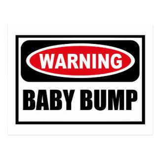 Warning BABY BUMP Postcard