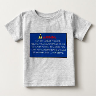 Warning Baby T-shirt