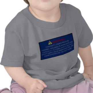 Warning Baby T-shirt