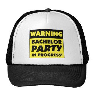 Warning Bachelor Party In Progress Mesh Hat