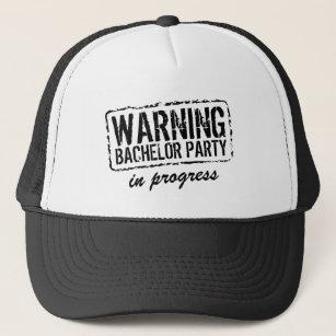 477df88f6cc WARNING BACHELOR PARTY IN PROGRESS trucker hats