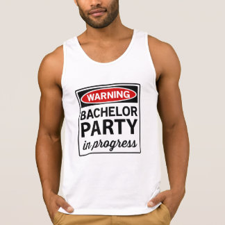Warning Bachelor Party Tank Top