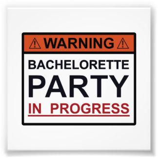 Warning Bachelorette Party in Progress Photo Print