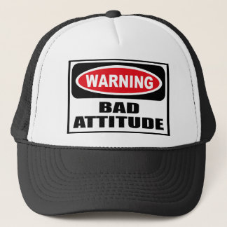 Warning BAD ATTITUDE Hat