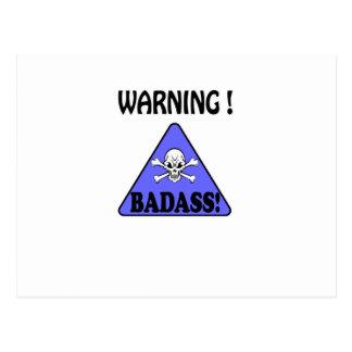 Warning!Badass Postcard