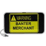 Warning Banter Merchant iPod Custom Doodle Speaker