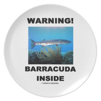 Warning! Barracuda Inside Party Plates